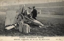 GUERRE EUROPEENNE DE 1914-1915 - Mortier Schneider De 105 M/m De Montagne - (n°6). - Guerre 1914-18