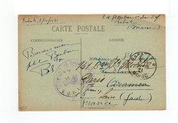 Sur CPA En FM CAD Rabar Maroc 1921 Et Cachet Régiment De Chasseurs D'Afrique. (2251x) - Morocco (1891-1956)