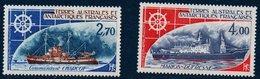 "TAAF 1976  Bateaux ""Commandant Charcot"" Et ""Marion-Dufresne""   N° YT PA 45+46** MNH - Posta Aerea"