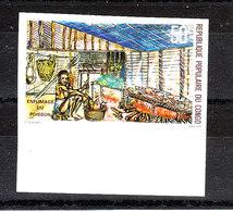 Congo - 1978. Affumicazione Del Pesce. Fish Smoking. MNH Imperf. Rare - Alimentazione