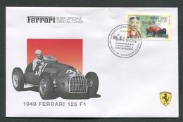 FDC FERRARI - BUSTA UFFICIALE - 1949 FERRARI 125 F1 - BRASIL - 421 - Automobili