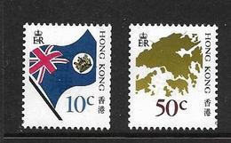 HONG-KONG 1987 COURANTS-DRAPEAUX  YVERT N°518/19 NEUF MNH** - Nuovi