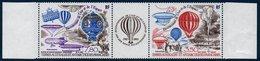 TAAF 1984 Bicentenaire Des Premières Ascensions En Ballon :  Triptyque  N° YT PA 83A  ** MNH - Posta Aerea