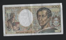 E1)   1 Billet De 200 F Montesquieu 1994 F168 - 200 F 1981-1994 ''Montesquieu''