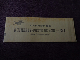 Carnet Complet Fermé 8 Timbres  Coq DECARIS  Philatec 1964 ENCRE GRISE - Nuovi