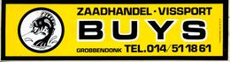 Sticker Autocollant Zaadhandel Vissport Buys Grobbendonk Hengelsport Pêche - Autocollants