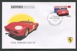 FDC FERRARI - BUSTA UFFICIALE - 1962 FERRARI 248 SP - UNION ISLAND - 428 - Automobili