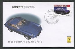 FDC FERRARI - BUSTA UFFICIALE - 1966 FERRARI 330 GTC - GTS - UNION ISLAND - 430 - Automobili