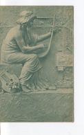CPA - COGNAC - Carte Publicitaire Paul Barret -  Lutherie Veuve BOUSSION - Harpiste - Musique - Place De L'Ancien Marché - Cognac