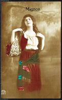 "FEMME - CP - Jeune Femme "" Mignon"" - Circulé Sous Enveloppe - Circulated Under Cover - Gelaufen U. Umschlag - 1914. - Femmes"