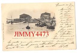 """CPA Datée De 1901 - Lancement De La """" JEANNE D'ARC """" Croiseur De 148 Mètres - Phot-Edit. A. Bougault Toulon Sur Mer - Warships"""