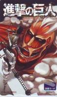 Carte Prépayée Japon * MANGA (16.894) ATTACK ON TITAN * CINEMA * BD COMICS * ANIME Japan Prepaid Card - Comics