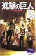 Carte Prépayée Japon * MANGA (16.893) ATTACK ON TITAN * CINEMA * BD COMICS * ANIME Japan Prepaid Card - Comics