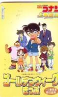 Carte Prépayée Japon * MANGA  (16.900) DETECTIVE CONAN * JAPAN COMICS PHONECARD * TELEFONKARTE * CINEMA FILM - Comics