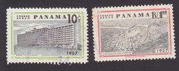 Panama, Scott #C196-C197, Used, Buildings, Issued 1957 - Panama