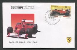 FDC FERRARI - BUSTA UFFICIALE - 2000 FERRARI F1 - 2000 - SOMALIA - 439 - Automobili