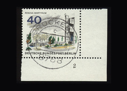 Berlin 1965, Michel-Nr. 258, Das Neue Berlin, 40 Pf., Eckrand Rechts Unten Mit Formnummer 2, Gestempelt - Gebraucht