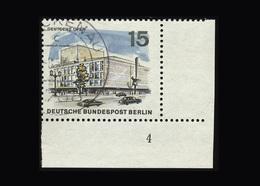 Berlin 1965, Michel-Nr. 255, Das Neue Berlin, 15 Pf., Eckrand Unten Rechts Mit Formnummer 4, Gestempelt - Gebraucht