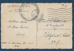 PAU - Ecole D' Instruction Militaire Sportive  1942 - Marcophilie (Lettres)