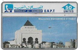 Morocco - ONPT - L&G - Mausolée Mohammed V Rabat - 305A - 1993, 50U, 100.000ex, Used - Morocco