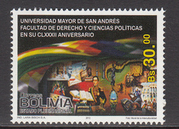 2013 Bolivia University Political Science  Complete Set Of 1  MNH - Bolivie