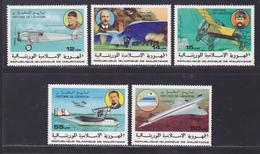 MAURITANIE N°  372 à 376 ** MNH Neufs Sans Charnière, TB (D9027) Histoire De L'aviation - 1977 - Mauritania (1960-...)