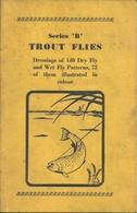 """""""Serie """"B"""" Trout Flies"""" Libro Sulla Pesca Con La Mosca, E. Veniard, Introduzione John Veniard - Sport"""