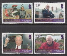 2013 South Georgia Sir Rex Hunt Falklands War Hero Complete Set Of 4  MNH - South Georgia