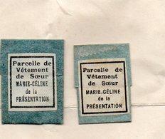 LOT De 9 RELIQUIA RELIC PARCELLE DE VÊTEMENT De Soeur MARIE-CELINE De La PRESENTATION 1950 Voir Scannes - Religion & Esotérisme