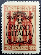 Fiume Occupation Italie Italy Italia Surchargé Overprinted Soprastampati 1924 Yvert 201 * MH - Fiume