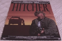 AFFICHE CINEMA ORIGINALE FILM THE HITCHER RUTGER HAUER Robert HARMON COGNAC 1986 TBE - Posters