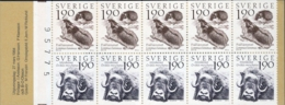 Sweden 1983 Nature & Fauna Stamp Booklet MNH Lemmings, Musk Ox - Ohne Zuordnung