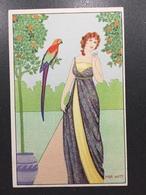 Art Nouveau - Mia Witt - Serie B.K.W.I. N°656 - 6 Donna E Pappagallo - Illustratori & Fotografie