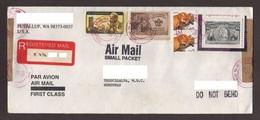 U.S.A, Cover Sent Puyallup-Tegucigalpa Stamps $1, $5 Christopher Columbus, Red Fox, Boy Scouts, Dag Hammarskjold, 1999 - Etats-Unis