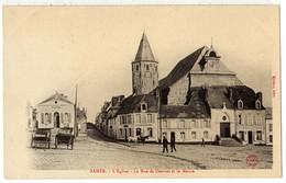 SAMER ( Près De Boulogne Sur Mer ) - 62 - Eglise  Charcuterie Café - Rue De Desvres Mairie - Chevaux Attelage Cariole - Boulogne Sur Mer