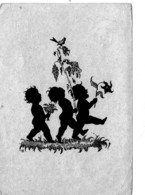 Künstler AK Scherenschnitt: - KINDER- Karte Gel 1948 - Scherenschnitt - Silhouette