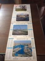 Série De 4 Calendriers PTT Reliés 1971-Courses à Longchamp-Vannes-Marée Basse à Pornichet-Marseille Entrée Du Vieux Port - Calendars