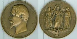 SECOND EMPIRE. AVENEMENT DE NAPOLEON III A L'EMPIRE 2 DECEMBRE 1852 (REFRAPPE) GRAVEUR : OUDINE. SUPERBE - Royaux / De Noblesse