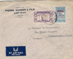 1946-Siria Aerogramma Per La Francia Con Affrancatura Mista Posta Aerea+fiscale - Siria