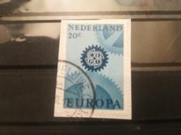 FRANCOBOLLI STAMPS OLANDA NEDERLAND 1967 USED SU FRAMMENTO EUROPA CEPT PAESI BASSI FRAGMENT - Periodo 1949 - 1980 (Giuliana)