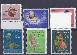 190031429  SUDAFRICA  YVERT   Nº  283B/284/286/286A/286D/287B  **/MNH - África Del Sur (1961-...)