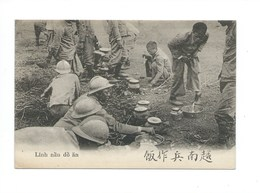 France INDOCHINE Soldats Annamites LINH  14/18 Colonies Françaises CPA TB 2 Scans - Vietnam