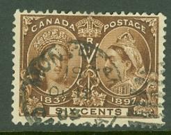 Canada: 1897   QV - Double Head   SG129    6c      Used - 1851-1902 Victoria