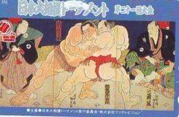 Télécarte  Japon  * SUMO * JAPAN (930) LUTTE LUTTEURS WORSTELEN * JUDO *  Kampf Wrestling LUCHA Phonecard - Sport