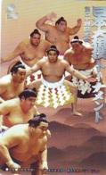 Télécarte  Japon  * SUMO * JAPAN (933) LUTTE LUTTEURS WORSTELEN * JUDO *  Kampf Wrestling LUCHA Phonecard - Sport