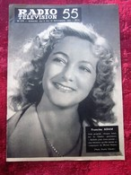 NOV 1955 RADIO TÉLÉVISION FRANCINE ADAM PROGRAMME DE RADIO- THÉÂTRE - NICE  RENNES STRASBOURG - MARSEILLE - LYON - LILLE - Fernsehen