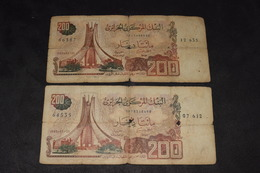 2 X 200 Dinars 1983 - Algeria