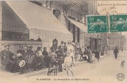FRANCE - CP SAINT AGREVE - LA GRAND'RUE ET L'HÔTEL PORTE      / 2 - Saint Agrève