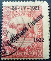 Fiume Occupation Italie Italy Italia Surchargé Overprinted Soprastampati 1922 Yvert 160 O Used Usato - Fiume