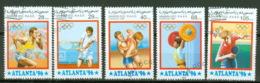 Saharaui 5 Werte Olympia Atlanta 1996 O - Fantasie Vignetten